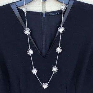 """kate spade """"Oops a Daisy"""" silver scatter necklace"""